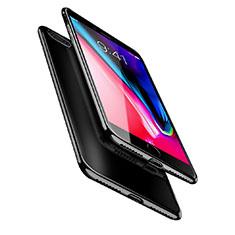 Silikon Schutzhülle Ultra Dünn Tasche Durchsichtig Transparent A08 für Apple iPhone 8 Plus Schwarz