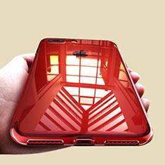 Silikon Schutzhülle Ultra Dünn Tasche Durchsichtig Transparent A09 für Apple iPhone 8 Plus Klar