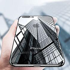 Silikon Schutzhülle Ultra Dünn Tasche Durchsichtig Transparent A14 für Apple iPhone 8 Plus Schwarz