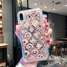 Silikon Schutzhülle Ultra Dünn Tasche Durchsichtig Transparent Blumen T01 für Apple iPhone XR Plusfarbig