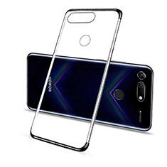 Silikon Schutzhülle Ultra Dünn Tasche Durchsichtig Transparent C01 für Huawei Honor V20 Schwarz