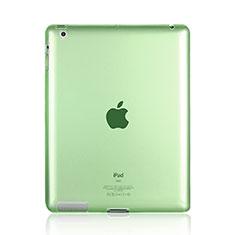 Silikon Schutzhülle Ultra Dünn Tasche Durchsichtig Transparent für Apple iPad 4 Grün
