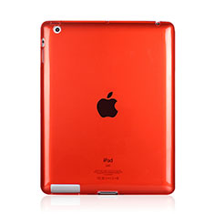 Silikon Schutzhülle Ultra Dünn Tasche Durchsichtig Transparent für Apple iPad 4 Rot