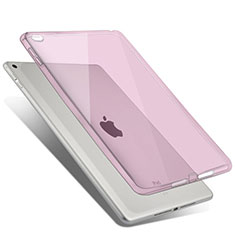 Silikon Schutzhülle Ultra Dünn Tasche Durchsichtig Transparent für Apple iPad Air 2 Rosa