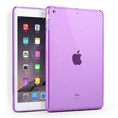 Silikon Schutzhülle Ultra Dünn Tasche Durchsichtig Transparent für Apple iPad Air Violett