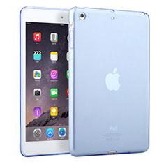Silikon Schutzhülle Ultra Dünn Tasche Durchsichtig Transparent für Apple iPad Mini 3 Hellblau