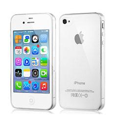 Silikon Schutzhülle Ultra Dünn Tasche Durchsichtig Transparent für Apple iPhone 4 Klar