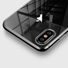 Silikon Schutzhülle Ultra Dünn Tasche Durchsichtig Transparent für Apple iPhone X Grau