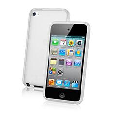 Silikon Schutzhülle Ultra Dünn Tasche Durchsichtig Transparent für Apple iPod Touch 4 Weiß