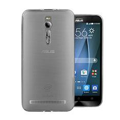 Silikon Schutzhülle Ultra Dünn Tasche Durchsichtig Transparent für Asus Zenfone 2 ZE551ML ZE550ML Grau