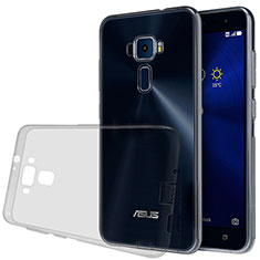 Silikon Schutzhülle Ultra Dünn Tasche Durchsichtig Transparent für Asus Zenfone 3 ZE552KL Grau