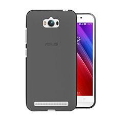 Silikon Schutzhülle Ultra Dünn Tasche Durchsichtig Transparent für Asus Zenfone Max ZC550KL Grau