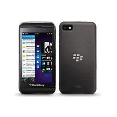 Silikon Schutzhülle Ultra Dünn Tasche Durchsichtig Transparent für Blackberry Z10 Grau