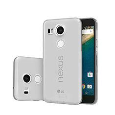Silikon Schutzhülle Ultra Dünn Tasche Durchsichtig Transparent für Google Nexus 5X Grau