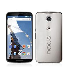 Silikon Schutzhülle Ultra Dünn Tasche Durchsichtig Transparent für Google Nexus 6 Grau