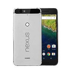 Silikon Schutzhülle Ultra Dünn Tasche Durchsichtig Transparent für Google Nexus 6P Grau