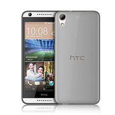 Silikon Schutzhülle Ultra Dünn Tasche Durchsichtig Transparent für HTC Desire 626 Grau