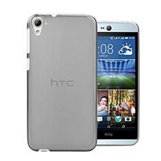 Silikon Schutzhülle Ultra Dünn Tasche Durchsichtig Transparent für HTC Desire 826 826T 826W Grau