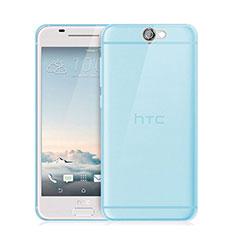 Silikon Schutzhülle Ultra Dünn Tasche Durchsichtig Transparent für HTC One A9 Blau