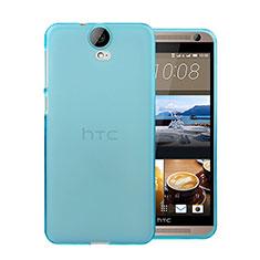 Silikon Schutzhülle Ultra Dünn Tasche Durchsichtig Transparent für HTC One E9 Plus Blau
