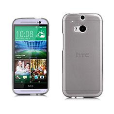 Silikon Schutzhülle Ultra Dünn Tasche Durchsichtig Transparent für HTC One M8 Grau