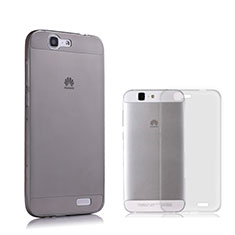 Silikon Schutzhülle Ultra Dünn Tasche Durchsichtig Transparent für Huawei Ascend G7 Grau