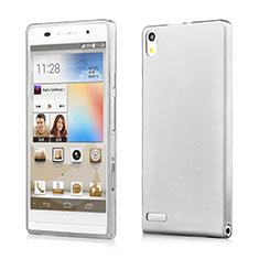 Silikon Schutzhülle Ultra Dünn Tasche Durchsichtig Transparent für Huawei Ascend P6 Grau