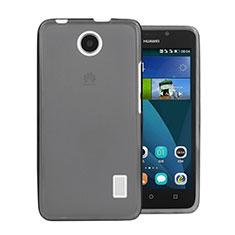 Silikon Schutzhülle Ultra Dünn Tasche Durchsichtig Transparent für Huawei Ascend Y635 Dual SIM Grau