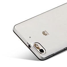 Silikon Schutzhülle Ultra Dünn Tasche Durchsichtig Transparent für Huawei G Play Mini Grau