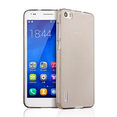 Silikon Schutzhülle Ultra Dünn Tasche Durchsichtig Transparent für Huawei Honor 6 Grau