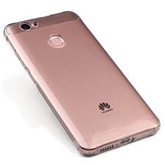 Silikon Schutzhülle Ultra Dünn Tasche Durchsichtig Transparent für Huawei Nova Grau