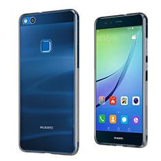 Silikon Schutzhülle Ultra Dünn Tasche Durchsichtig Transparent für Huawei P10 Lite Grau