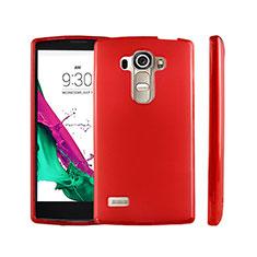 Silikon Schutzhülle Ultra Dünn Tasche Durchsichtig Transparent für LG G4 Beat Rot