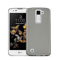 Silikon Schutzhülle Ultra Dünn Tasche Durchsichtig Transparent für LG Stylus 2 Plus Grau