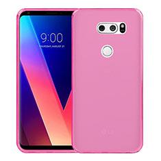 Silikon Schutzhülle Ultra Dünn Tasche Durchsichtig Transparent für LG V30 Rosa