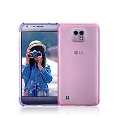 Silikon Schutzhülle Ultra Dünn Tasche Durchsichtig Transparent für LG X Cam Rosa