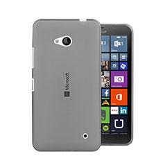 Silikon Schutzhülle Ultra Dünn Tasche Durchsichtig Transparent für Microsoft Lumia 640 Grau