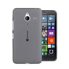 Silikon Schutzhülle Ultra Dünn Tasche Durchsichtig Transparent für Microsoft Lumia 640 XL Lte Grau