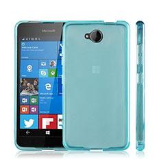 Silikon Schutzhülle Ultra Dünn Tasche Durchsichtig Transparent für Microsoft Lumia 650 Blau