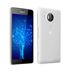 Silikon Schutzhülle Ultra Dünn Tasche Durchsichtig Transparent für Microsoft Lumia 950 XL Grau