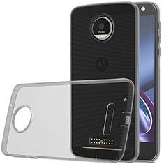 Silikon Schutzhülle Ultra Dünn Tasche Durchsichtig Transparent für Motorola Moto Z Play Grau