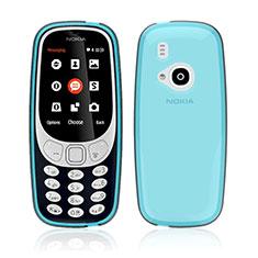 Silikon Schutzhülle Ultra Dünn Tasche Durchsichtig Transparent für Nokia 3310 (2017) Blau