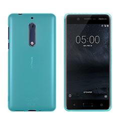 Silikon Schutzhülle Ultra Dünn Tasche Durchsichtig Transparent für Nokia 5 Blau