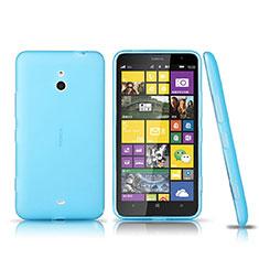 Silikon Schutzhülle Ultra Dünn Tasche Durchsichtig Transparent für Nokia Lumia 1320 Blau