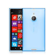 Silikon Schutzhülle Ultra Dünn Tasche Durchsichtig Transparent für Nokia Lumia 1520 Blau