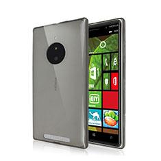 Silikon Schutzhülle Ultra Dünn Tasche Durchsichtig Transparent für Nokia Lumia 830 Grau