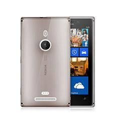 Silikon Schutzhülle Ultra Dünn Tasche Durchsichtig Transparent für Nokia Lumia 925 Grau