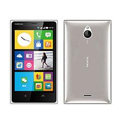 Silikon Schutzhülle Ultra Dünn Tasche Durchsichtig Transparent für Nokia X2 Dual Sim Grau