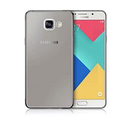 Silikon Schutzhülle Ultra Dünn Tasche Durchsichtig Transparent für Samsung Galaxy A3 (2016) SM-A310F Grau