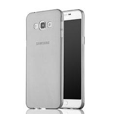 Silikon Schutzhülle Ultra Dünn Tasche Durchsichtig Transparent für Samsung Galaxy A7 Duos SM-A700F A700FD Grau